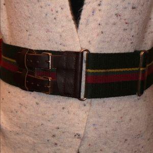 Multi colored cloth belt